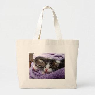 Sweet kittens large tote bag