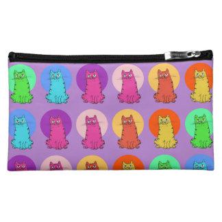 sweet kitties multiple color tint funny cartoon cosmetic bag