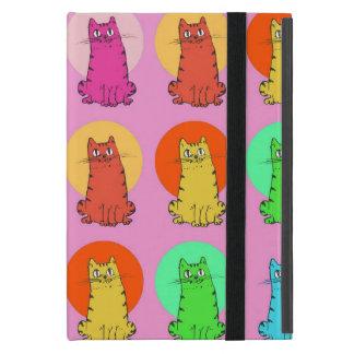 sweet kitties multiple color tint funny cartoon cover for iPad mini