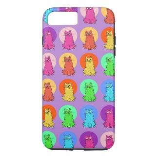 sweet kitties multiple color tint funny cartoon iPhone 8 plus/7 plus case