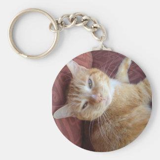 Sweet Kitty Basic Round Button Key Ring