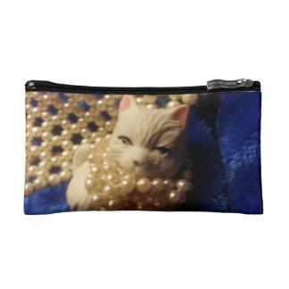 Sweet kitty blue cosmetic bag1 cosmetics bags