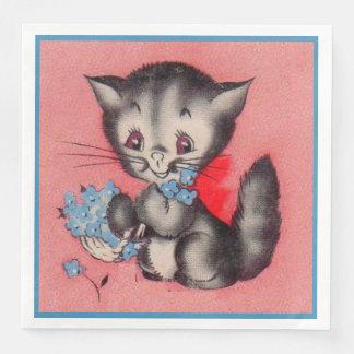 sweet kitty cat disposable napkin