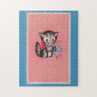 sweet kitty cat jigsaw puzzle