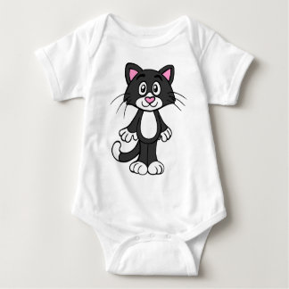 Sweet Kitty Heart Nose Baby Bodysuit