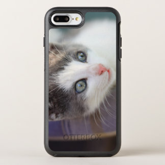 Sweet Kitty In Plaid Bed OtterBox Symmetry iPhone 7 Plus Case