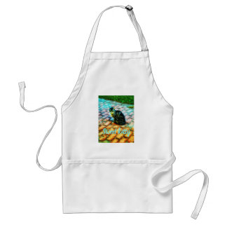 Sweet kitty in the garden standard apron