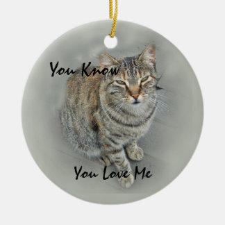 (Sweet Kitty Round Ceramic Decoration