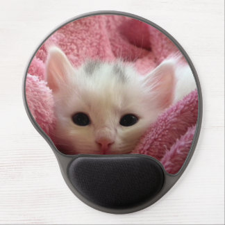 Sweet kitty stay warm gel mouse pad