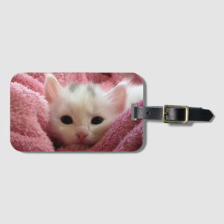 Sweet kitty stay warm tags for luggage