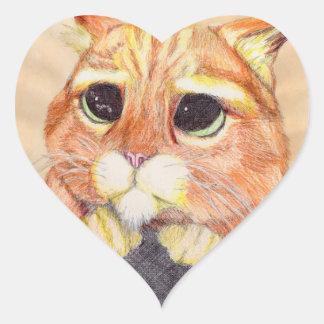 Sweet Kitty Heart Sticker