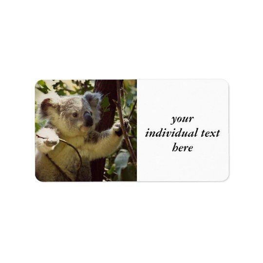 sweet Koala baby Label