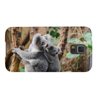 Sweet koala bears on tree cases for galaxy s5