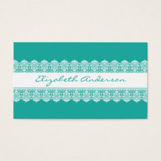 Sweet Lace Style - Soft Teal Business Card
