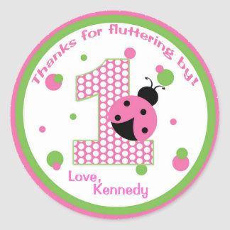 Sweet Ladybug First Birthday Sticker