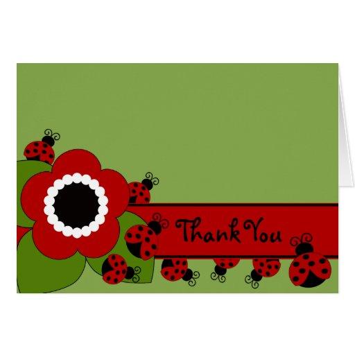 Sweet Ladybug Thank You Note Greeting Cards