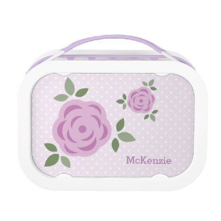 Sweet Lavender Flowers Personalized Lunch Box