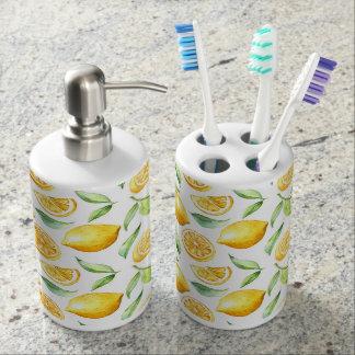 Sweet Lemon Bathroom Set