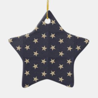 Sweet Liberty Stars Tan Ceramic Star Decoration