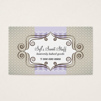 Sweet Lilac and Polka Dots Business Card