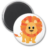 Sweet Lion 6 Cm Round Magnet