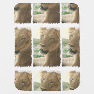 Sweet Lioness Receiving Blankets