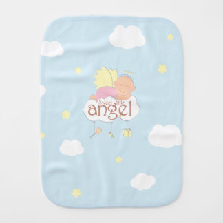 Sweet little angel blue burp cloth