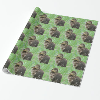 Sweet little duckling wrapping paper