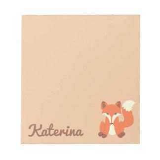 """Sweet Little Fox"" Notepad"