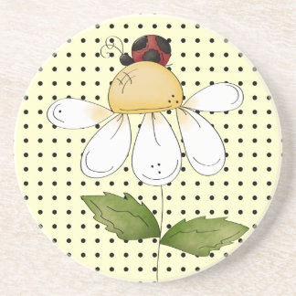 Sweet Little Ladybug Amazing Thirsty Beverage Coaster