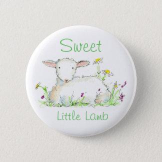 Sweet Little Lamb Farm Animal Sheep Illustration 6 Cm Round Badge