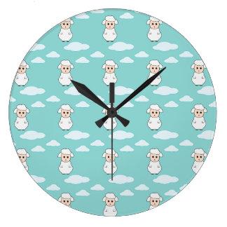 Sweet Little Lamb Large Clock