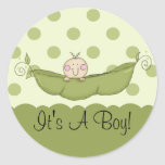 Sweet Little Pea It's A Boy Sticker