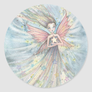 Sweet Little Star Fairy by Molly Harrison Classic Round Sticker