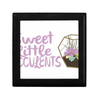 Sweet Little Succulents Small Square Gift Box