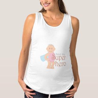 Sweet little superhero Maternity Tank Top
