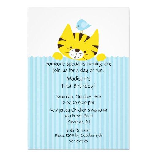 Sweet Little Tiger Birthday Invitation