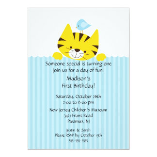 Sweet Little Tiger Birthday Invitation