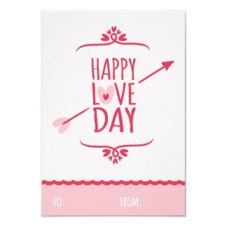 "Sweet Love Classroom School Kids Valentine's Day 3.5"" X 5"" Invitation Card"