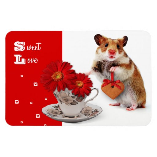 Sweet Love. Fun Valentine's Day Gift Magnet Rectangle Magnet