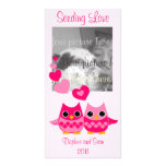 Sweet Love Owls Personalised Photo Card