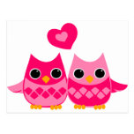 Sweet Love Owls Post Card