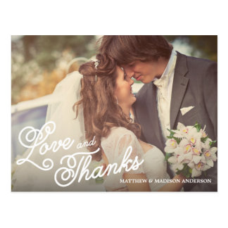 SWEET LOVE THANKS WEDDING THANK YOU POST CARD
