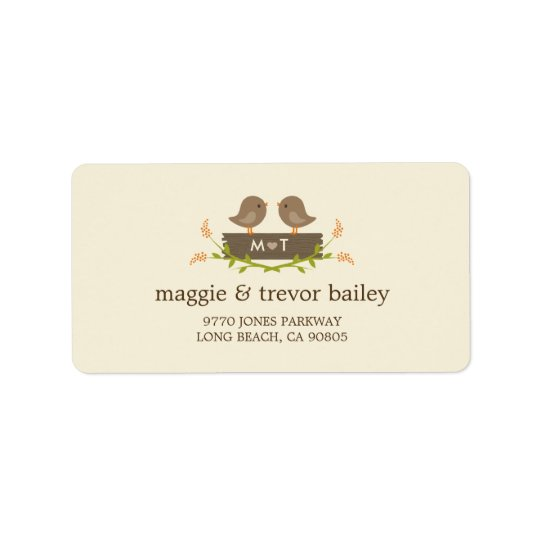 Sweet Love Wedding Address Labels