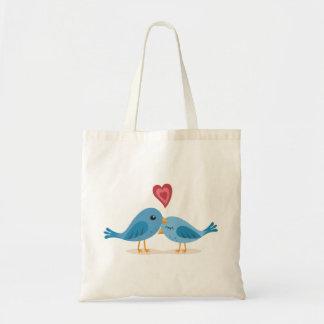 Sweet lovebirds budget tote bag