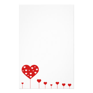 Sweet Lovely Romantic Hearts Stationery Letterhead