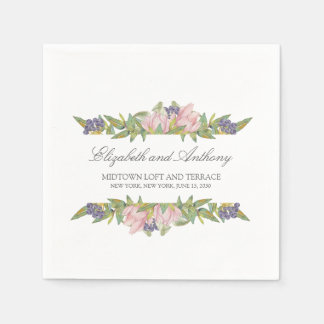 Sweet Magnolia Disposable Wedding Serviettes Disposable Napkin