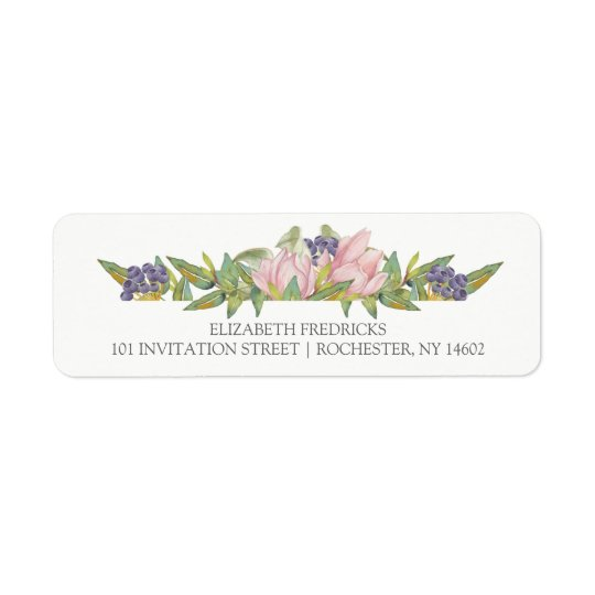 Sweet Magnolia Wedding Return Address Labels