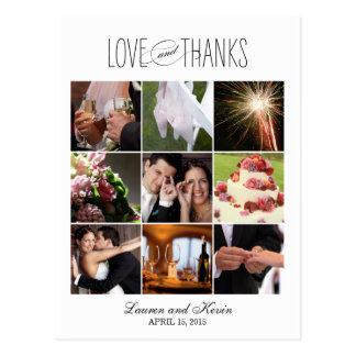Sweet Memories Wedding Thank You Card