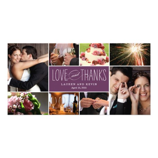 Sweet Memories Wedding Thank You Photo Cards Photo Card